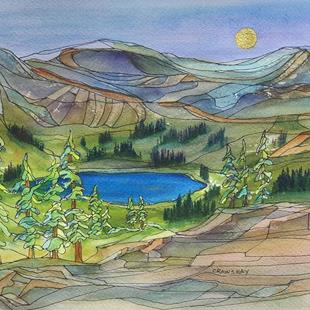 Art: Mountain Gift (sold) by Artist Kathy Crawshay
