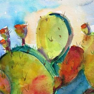 Art: Prickly Pear No. 2 by Artist Delilah Smith