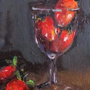 Art: Strawberries in a Glass by Artist Delilah Smith