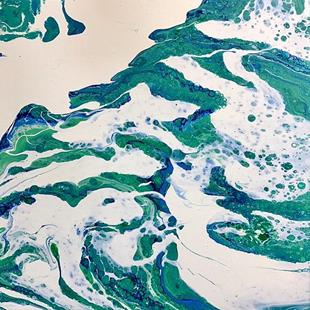 Art: Fluid Acrylic Abstract - sold by Artist Ulrike 'Ricky' Martin