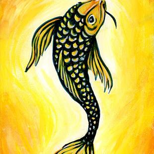 Art: Koi  (SOLD) by Artist Monique Morin Matson