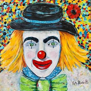 Art: Clown Portrait by Artist Ulrike 'Ricky' Martin