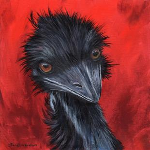 Art: Emu by Artist Janet M Graham
