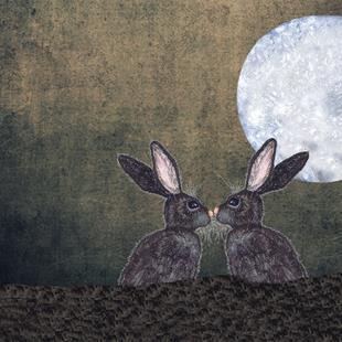 Art: LOVING HARES enday by Artist Dawn Barker