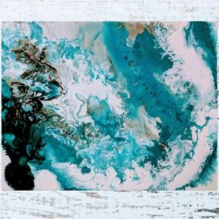 Art: Turquoise Marble (sold) by Artist Amber Elizabeth Lamoreaux