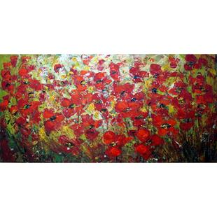 Art: RED POPPY FLOWERS by Artist LUIZA VIZOLI