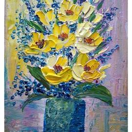 Art: Yellow Flowers Bouquet by Artist LUIZA VIZOLI