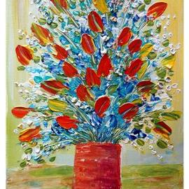 Art: SPRING BOUQUET by Artist LUIZA VIZOLI