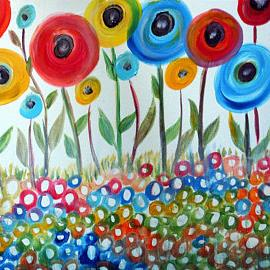 Art: HAPPY DAY Poppy Flowers by Artist LUIZA VIZOLI