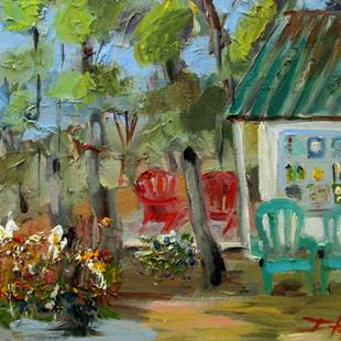 Art: Cottage in the Woods by Artist Delilah Smith