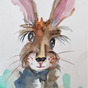 Art: Rabbit-sold by Artist Delilah Smith