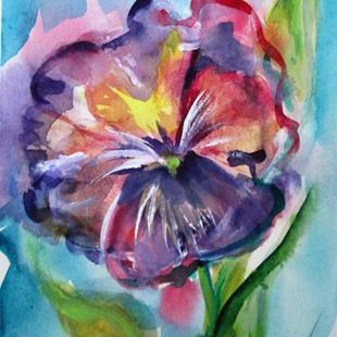 Art: Flower-sold by Artist Delilah Smith