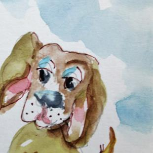 Art: Puppy Dog by Artist Delilah Smith