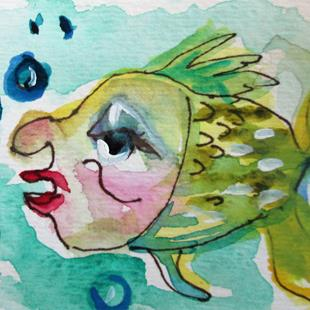 Art: Sleepy Fish by Artist Delilah Smith