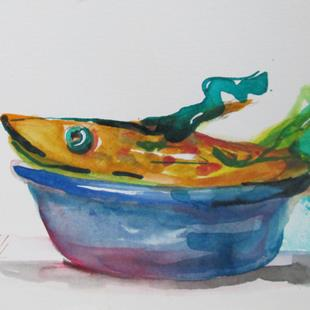 Art: Fish in a Bowl by Artist Delilah Smith