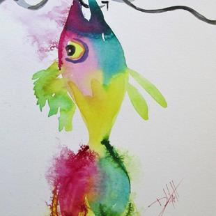 Art: A Fish on a Hook by Artist Delilah Smith