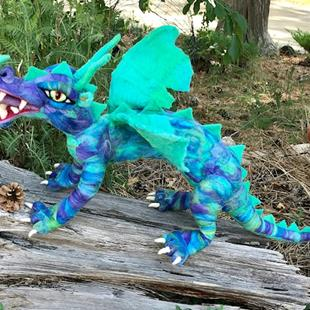 Art: Needle Felted Dragon by Artist Ulrike 'Ricky' Martin