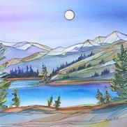 Art: Wild in the Mountains by Kathy Crawshay