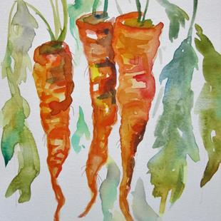 Art: Three Carrots by Artist Delilah Smith