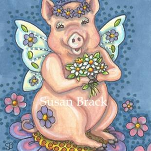 Art: FLYING PIGS ARE ALWAYS WELCOME by Artist Susan Brack