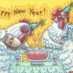 Art: SPIKING THE NEW YEAR'S PUNCH by Artist Susan Brack