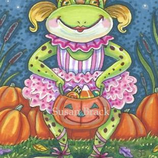 Art: FROGGETT GOES TRICK OR TREATING by Artist Susan Brack