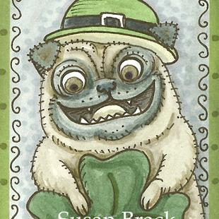 Art: GOTH IRISH PUG by Artist Susan Brack