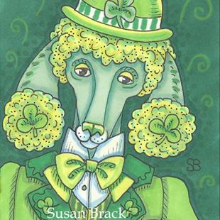 Art: GREEN AS AN IRISH POODLE by Artist Susan Brack