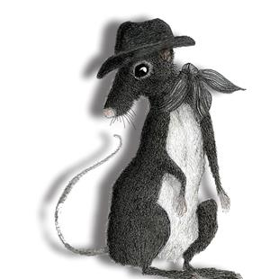 Art: RAT in the HAT r108 by Artist Dawn Barker