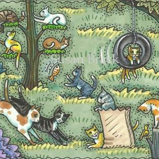 Art: CAT CAMP by Artist Susan Brack
