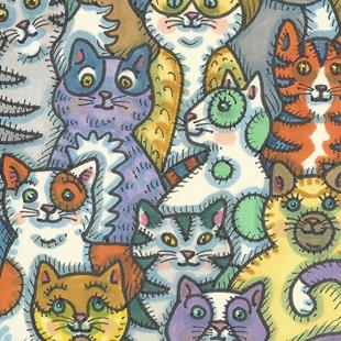 Art: CAT MIX by Artist Susan Brack