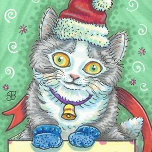 Art: A KITTEN FOR CHRISTMAS by Artist Susan Brack