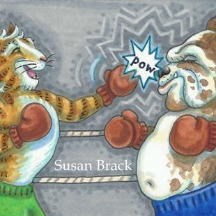 Art: A PURRRFECT PUNCH! by Artist Susan Brack