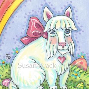 Art: EASTER SCOTTIE Spring by Artist Susan Brack