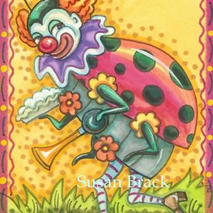 Art: HERE COMES THE LADYBUG CIRCUS by Artist Susan Brack