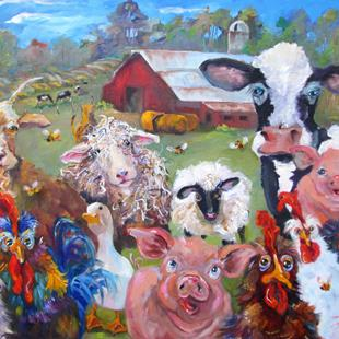 Art: Down on the Farm by Artist Delilah Smith
