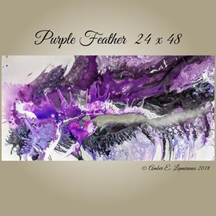 Art: Purple Feather (sold) by Artist Amber Elizabeth Lamoreaux