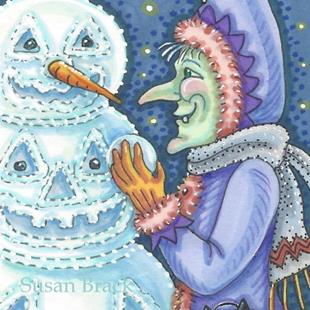 Art: WITCH'S SNOW JACK by Artist Susan Brack