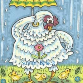 Art: APRIL SHOWERS by Artist Susan Brack