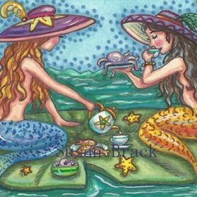 Art: MERMAID TEA PARTY by Artist Susan Brack