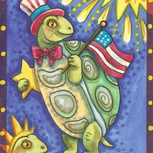 Art: TURTLE BAY INDEPENDENCE DAY by Artist Susan Brack