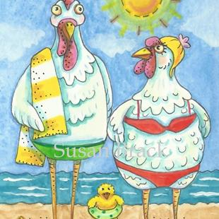 Art: CHICKENS OF THE SEA by Artist Susan Brack