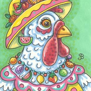 Art: SUMMER HEN by Artist Susan Brack