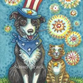 Art: PET PALS USA by Artist Susan Brack