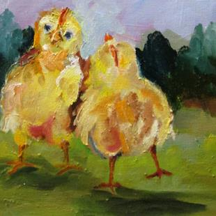 Art: Chicks No. 2 by Artist Delilah Smith