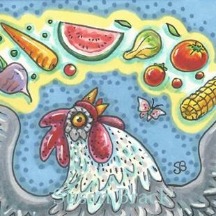 Art: CHICKEN CRAVINGS by Artist Susan Brack