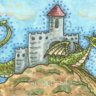 Art: DRAGON IN THE HOUSE by Artist Susan Brack