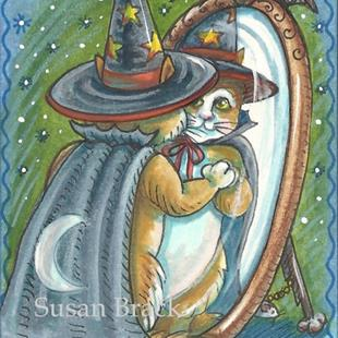 Art: CAT IN THE MAGIC MIRROR by Artist Susan Brack