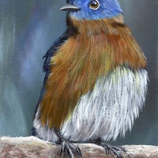 Art: Eastern Bluebird No 3 by Artist Janet M Graham