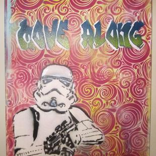 Art: Original Graffiti Pop Art Star Wars Stormtrooper Move Along by Artist Paul Lake, Lucky Studios